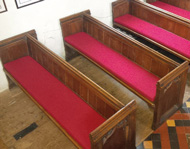 Made to measure Church Pew Cushions