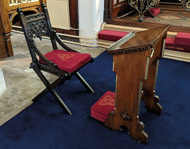 A made-to-measure Bishop's Chair Cushion