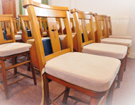 Congregational chair cushions