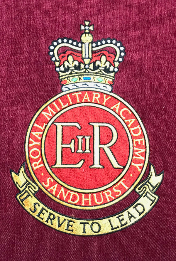 Church Cushion embroidery for the Royal Military Acadamy, Sandhurst