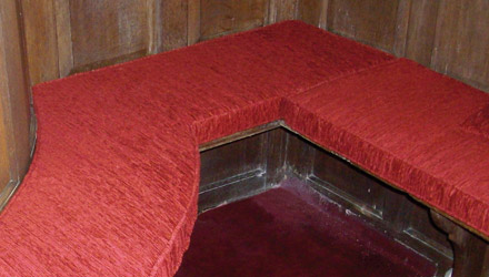 Shaped Church Pew Cushions