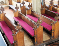 Made-to-measure Church Pew Cushions