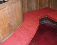 A made-to-measure Church Pew Cushion