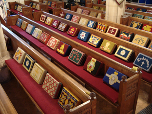 Pew Cushions & Church kneelers with embroidered covers
